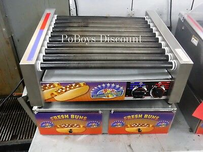 APW Wyott Hot Dog Roller HRS-31S Concession Countertop Grill W/ Bun Cabinet 1 P