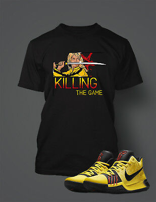 aa9f2a1fa033 T shirt To match KYRIE 3 BRUCE LEE Shoe Mens Killing The Game Graphic Pro  Club