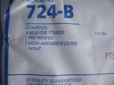 80 Medical Action Single-use Sterile O.R. Towels, 724-B Actisorb!  S5