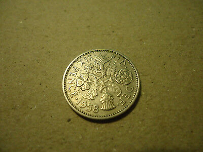 1958 English Six Pence Coin   **l@@k**   >>>Combined Shipping<<<
