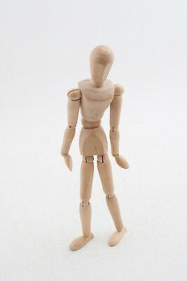 "Wooden Artist's Model Art Figure Articulated 12"" (D4L) Mannequin"