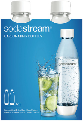 NEW Sodastream 1741210610 1 Litre Twin Pack Fuse White PET
