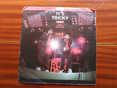 Single Run-D.m.c. - It's Tricky / Proud To Be Black - Spain 1987 Vg/vg+