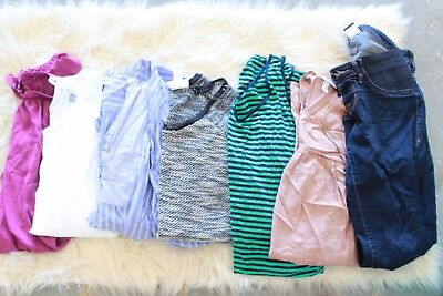 Lot of 7 Maternity Women's Clothes Tops Dresses Pants Size L Old Navy Mossimo
