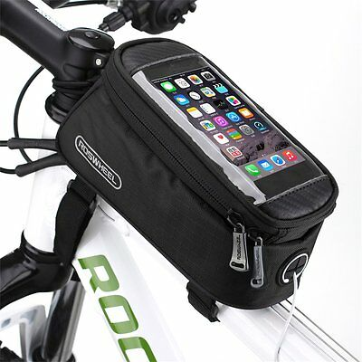 ROSWHEEL Waterproof Cycling Bike Bicycle Front Frame Pannier Tube Bag For PhoYT