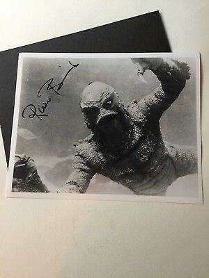 """Ricou Browning Creature of the Black Lagoon Signed 8"""" x 10"""" Photo"""