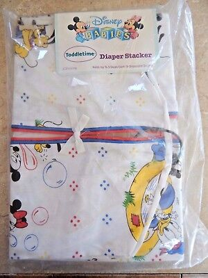 VTG / New 1984 Disney Babies Diaper Stacker by Toddletime JC Penny Holds 3 DOZ