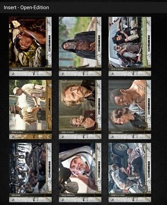 Topps Walking Dead Come What May Complete Waves 2 & 3 *Digital Cards*