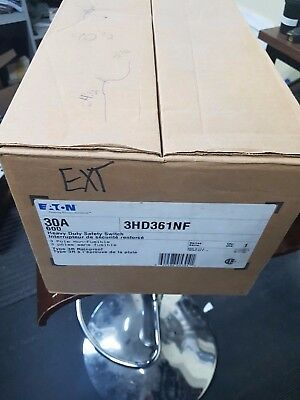 Cutler Hammer 3HD361NF 30 Amp 3 Phase 600V Non-Fusible Switch New Rain Tight