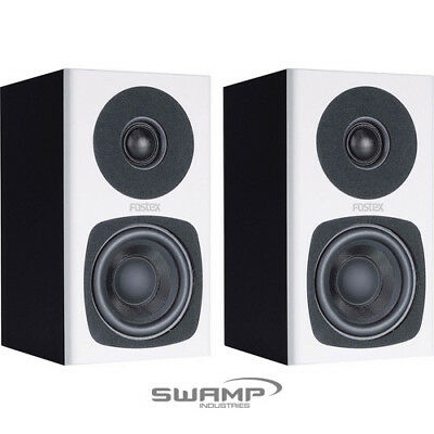 Fostex PM0.3 / PM0.3d Powered Recording Studio Speakers (Pair) - White