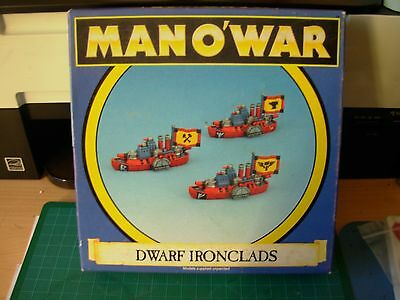 Fantasy Man o'War Dwarf Ironclad Squadron x 3 in original Box Rare OOP
