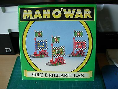 Fantasy Man o'War Orc Drillakillas Flagship in Original Box Rare OOP