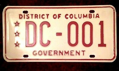 Washington D.c. District Of Columbia # 1 Department Corrections License Plate