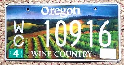 2000s OREGON WINE COUNTRY GRAPES VINEYARD VITICULTURE SPECIALTY LICENSE PLATE OR