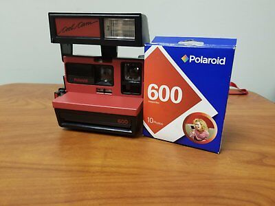 Polaroid Cool Cam 600 Red One Step Close Up Instant With Film