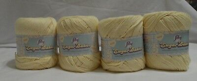 Lily Sugar Babies 100% Cotton Baby Yarn - 140g or 5 oz -  Colour Baby Yellow