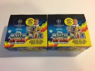 Topps Match Attax Champions 2017 2018 17 18 - 2 Sealed Boxes / 2 Cajas Selladas