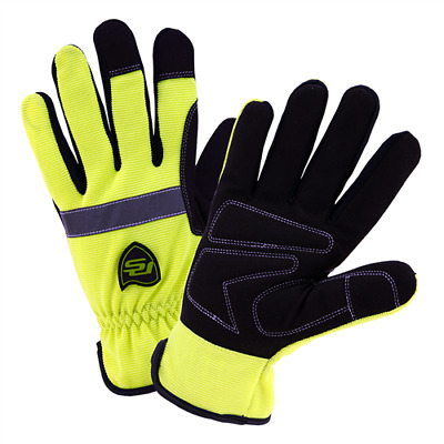 Westchester 96551 Pro Series Hi-Viz Slip-On Gloves, Insulated/Waterproof (S-2XL)