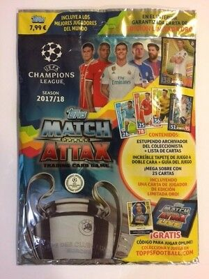 Topps Match Attax Champions 2017 2018 17 18 - 1 Starter Pack /1 Pack Lanzamiento