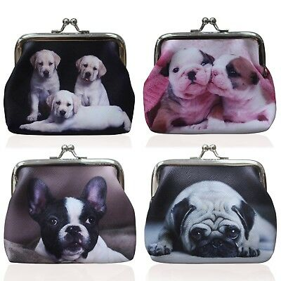 New Ladies Coin Purse Womens Dog Purse Pouch Wallet Childrens Girls Purse