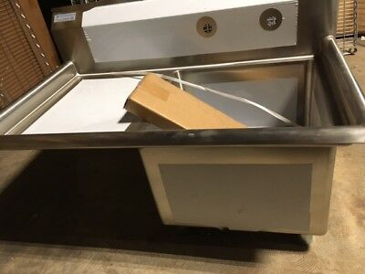 """One-Bay Sink w/Left Drainboard - 18"""" x 18"""" x 12"""" bay - NEVER USED"""