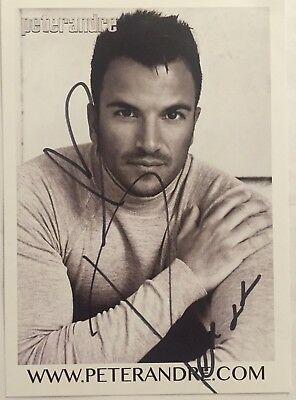 Peter Andre Hand Signed Photo