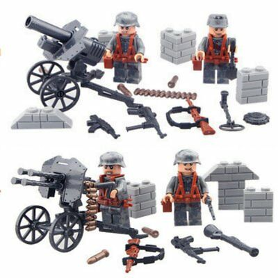 DUNKIRK WW2 4 soldiers Wehrmacht weapons minifigures gift Christmas present