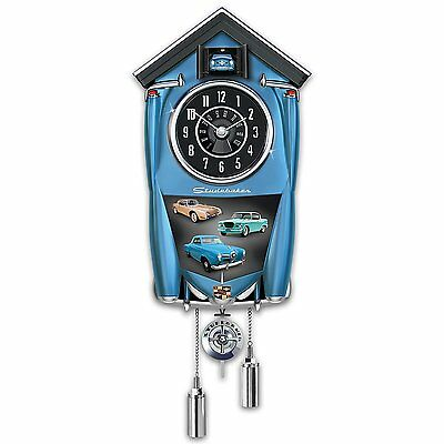 Bradford Exchange - Studebaker Wall Cuckoo Clock Lights Up With Revving Sound