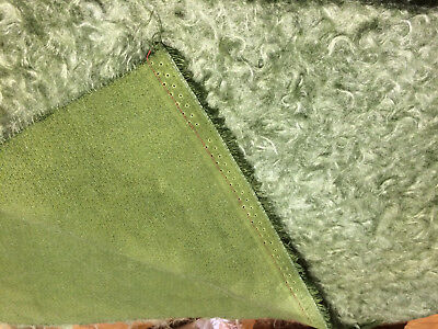 NEW 40mm ANTIQUE GREEN Matted HAND DYED mohair