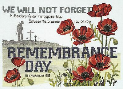 Remembrance Day Cross Stitch Chart - Country Threads