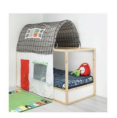 IKEA KID'S Bed tent with curtain	KURA Grey/white
