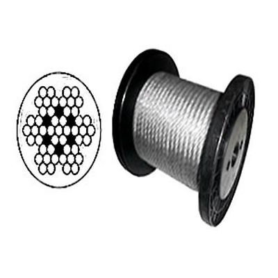 """Cable Railing Type 304 Stainless Steel Wire Rope Cable, 3/32"""", 7x7 Coil & Reel"""