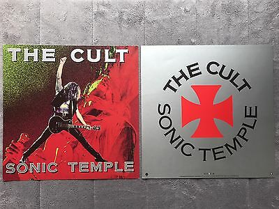 The Cult Sonic Temple '89 RARE promo 12 x 12 poster flat