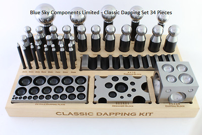 Pro Doming Set 34 Pieces Solid Steel Forming Doming Jewellers Jewellery Tool