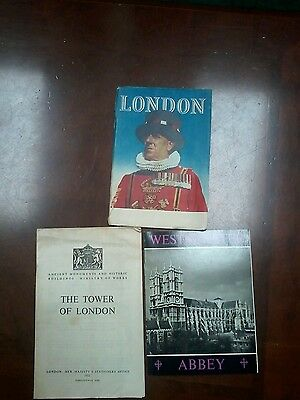 3 1950s Booklets of London, Westminster Abby & The Tower of London