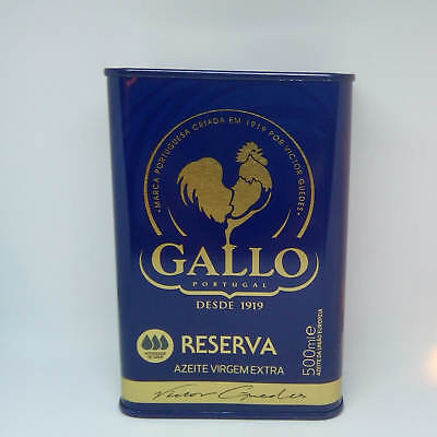 Portuguese Can Extra Virgin Olive Oil Gallo Awarded Intense Taste 500ml free P&P
