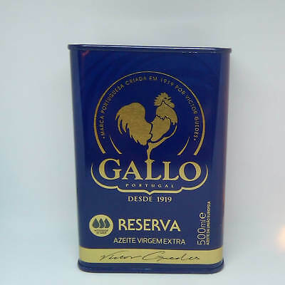 Portuguese Can Extra Virgin Olive Oil Gallo - Intense Taste - RESERVE - 500ml