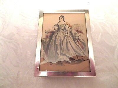 Antique Sterling Silver Picture Frame with picture of Anna of Russia