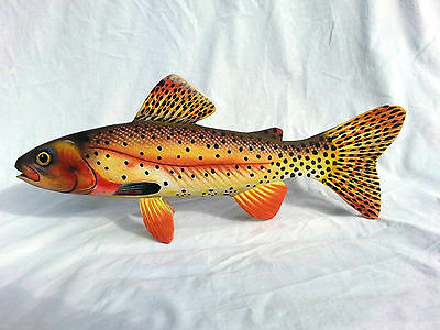 Hand Carved and Painted Yellowstone Cutthroat Trout