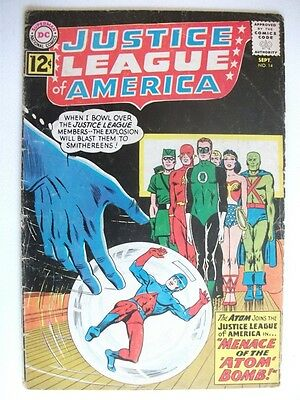 JUSTICE LEAGUE of AMERICA # 14 (ATOM JOINS - SEPT 1962) VG