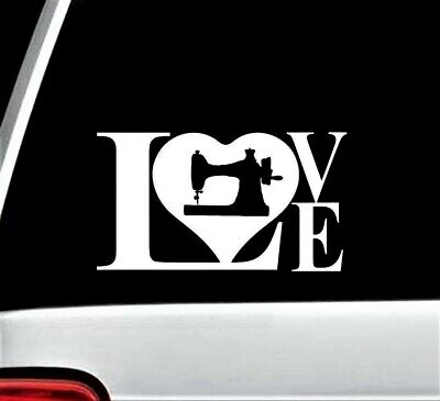 SEW Sewing Machine Decal Sticker for Car Window BG168 Love To Sew Quilting