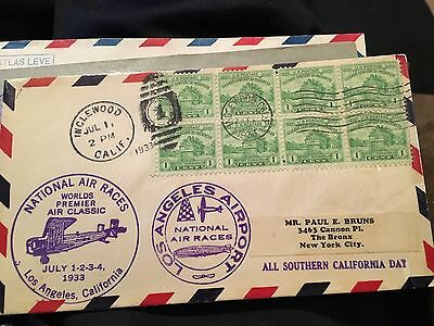 1933 First Day Cover With 8 Stamps