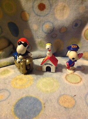 Lot of 3 Peanuts Snoopy Figures