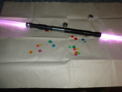NEW Color Change Double Blade Lightsaber Staff Darth Maul green yellow purple