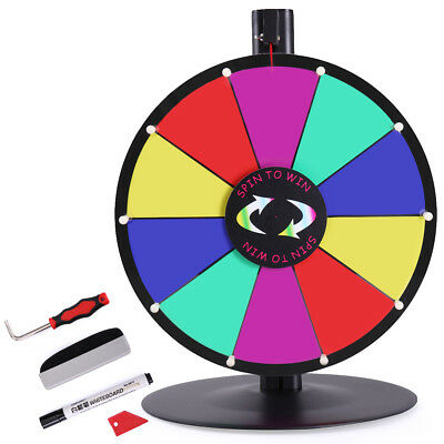 """15"""" Tabletop Color Dry Erase Prize Wheel Fortune Spin Game Tradeshow"""