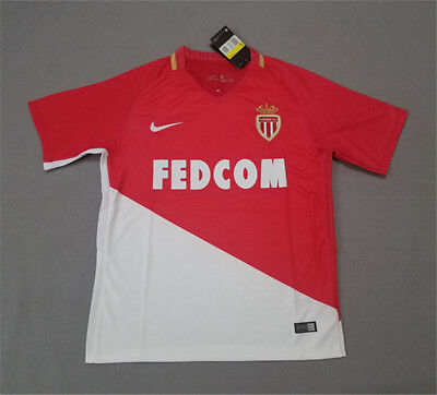 17-18 Home Red AS Monaco Soccer Shirt Football Jersey Customize Blank