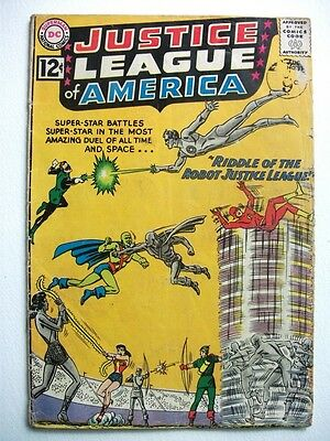 JUSTICE LEAGUE of AMERICA # 13 (Riddle of the Robot Justice League, Aug 1962) VG