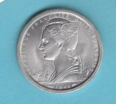 1948 Madagascar Two Franc= neat little uncirculated coin