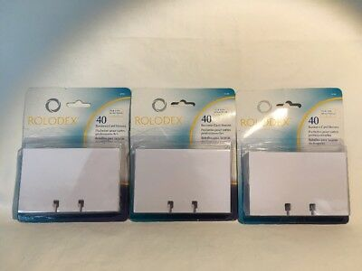 3 PACKS 40-ct Rolodex BUSINESS CARD REFILL SLEEVES - ROL67691 NEW NRFP