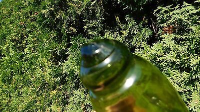 Genuine Rare Japanese Beachcombed Olive Green Rolling Pin Glass Float